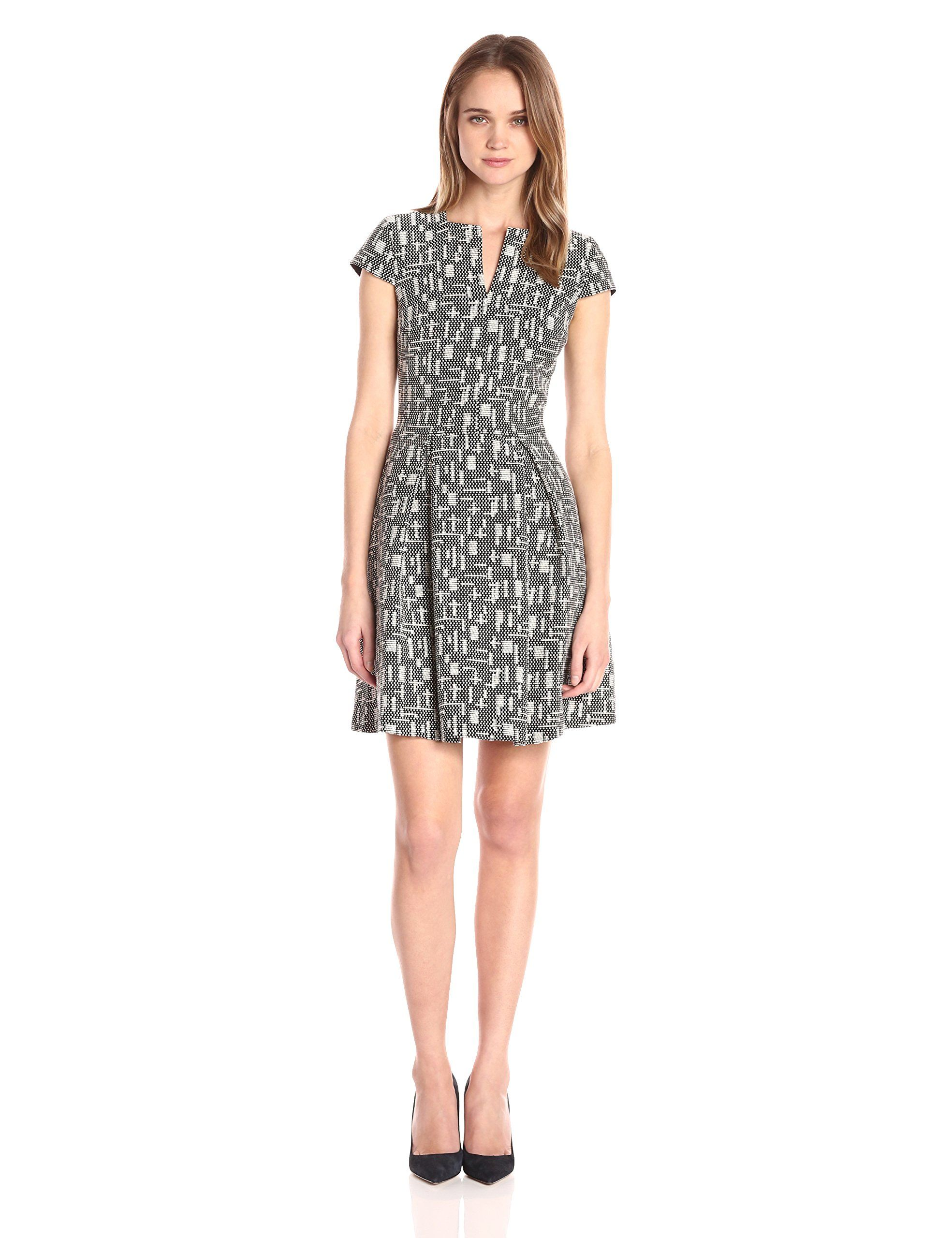 Ax armani exchange womenus short sleeve fit and flare dress black