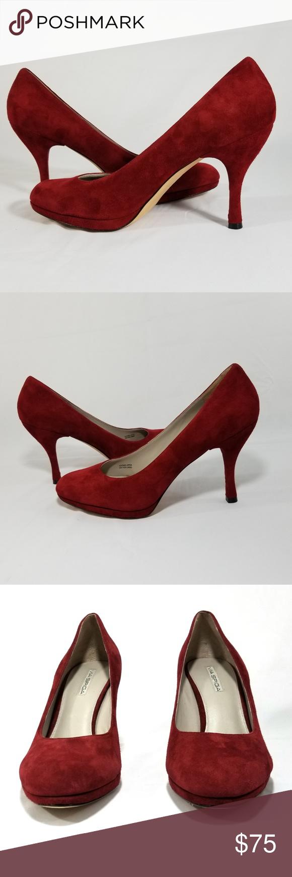 3788797853f3 Via Spiga Red Suede Pumps Round Toe Womens Size 11 Absolutely gorgeous Via  Spiga Red Suede Pumps Round Toe and 4
