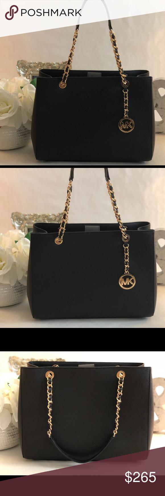 Michael Kors Susannah Black Gold Tote This bag very