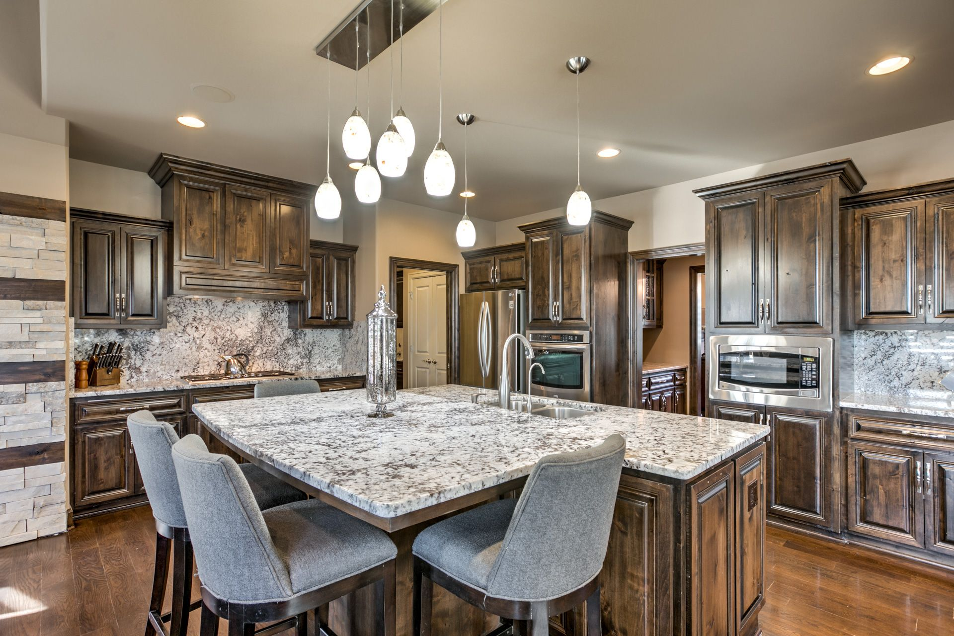 This kitchen is AMAZING!!  #homesforsale #Omaha #dreamhome #homedecor #lakehome #luxuryrealestate #dreamhome #luxury #home #gorgeoushomes #windows #largehomes #realestate #beautifulhomes #modernhomes