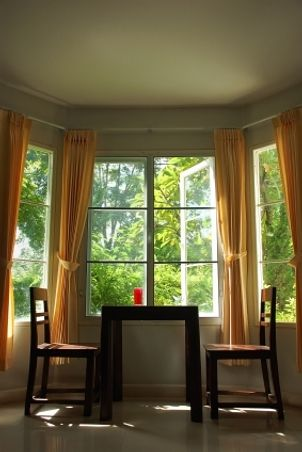 Curtains For Bay Windows   How To Measure   Proper Scale