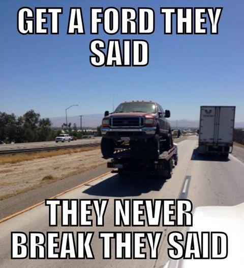 Pin by Jordan Brumbalow on Ford jokes | Ford memes, Truck ...