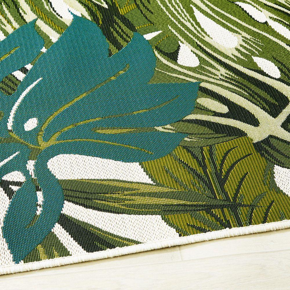 outdoor teppich bedruckt mit tropischem