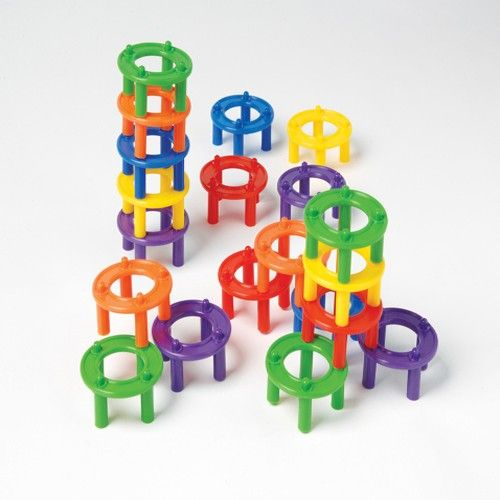 2x Colorful Stacking /& Nesting Rings Playset Kids Educational Toy Gift