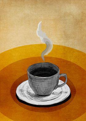 "Coffee Shop by Adel Alahmady | metal posters - Displate #homedecor explore Pinterest""> #homedecor… | Displate thumbnail"