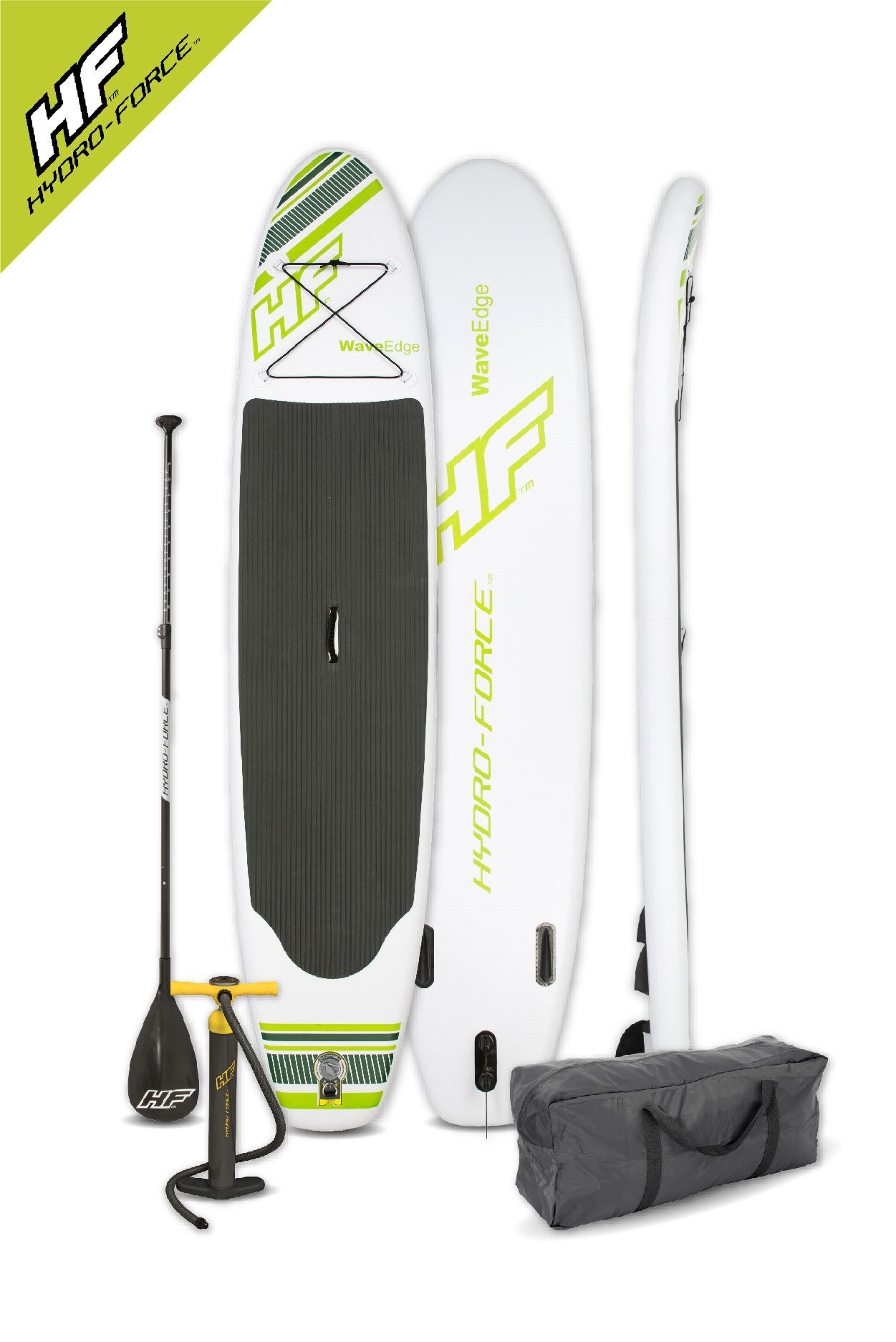 Bestway Inflatable Hydro Force Wave Edge 10 Foot Stand Up Paddle Board White Standup Paddle Paddle Boarding Paddle