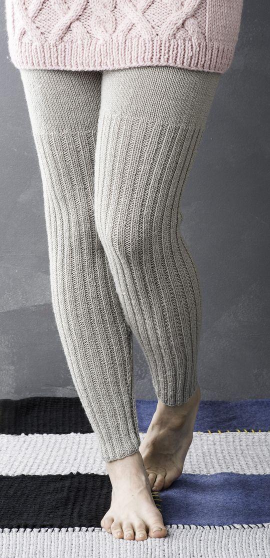 Naisen neulotut villahousut Novita Wool | Novita knits 40/42 400 g myös lapsen 100 - 140 cm knitted legwarmers leg warmers