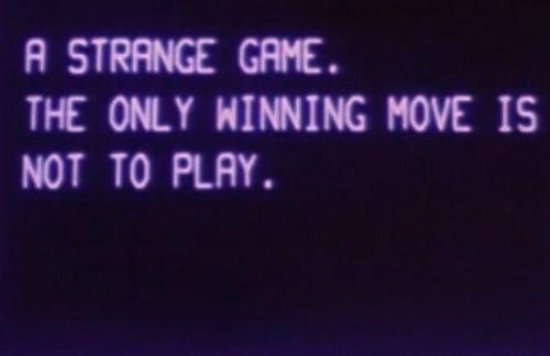 rune, oc, aes, violet, noir, un jeu étrange le seul coup gagnant est de ne pas jouer |  Esthétique violette, esthétique violette, esthétique sombre