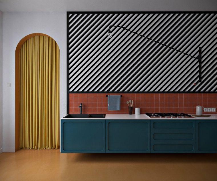 Pisos modernos decorados de forma muy elegante Interiors, Kitchens