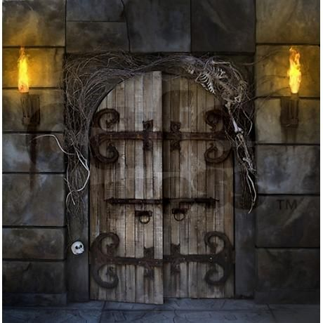Gothic Spooky Door Shower Curtain & Gothic Spooky Door Shower Curtain | Halloween So and Doors Pezcame.Com