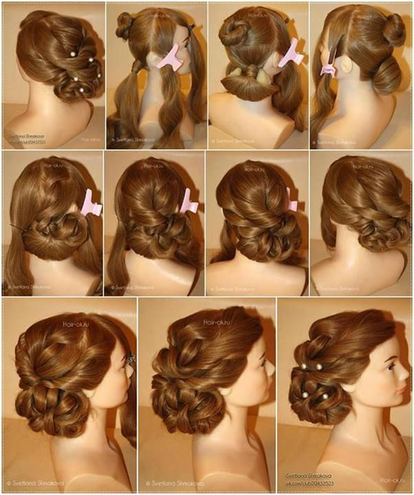 Evening Hairstyle Tutorial Alldaychic Evening Hairstyles Hair Tutorial Long Hair Styles