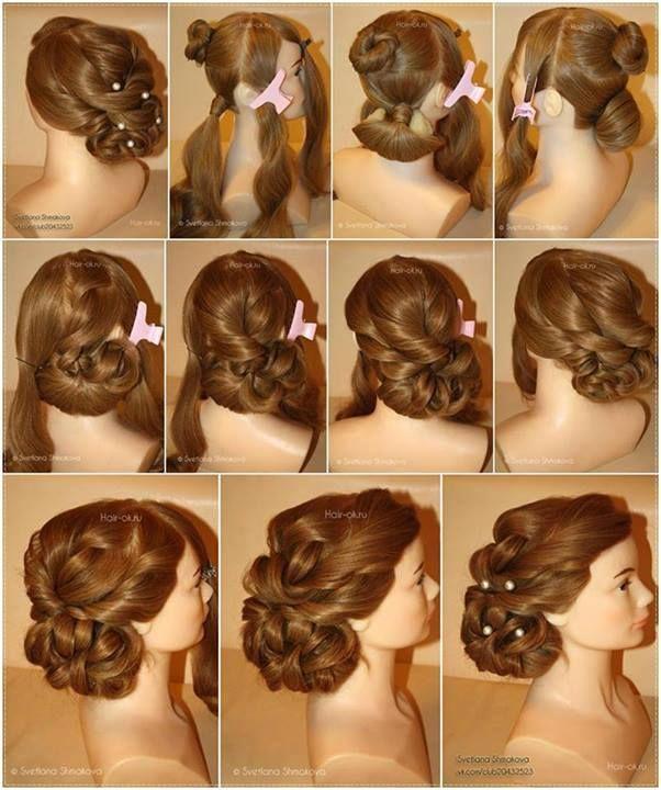 Evening Hairstyle Tutorial Alldaychic Evening Hairstyles Hair Tutorial Long Hair Styles