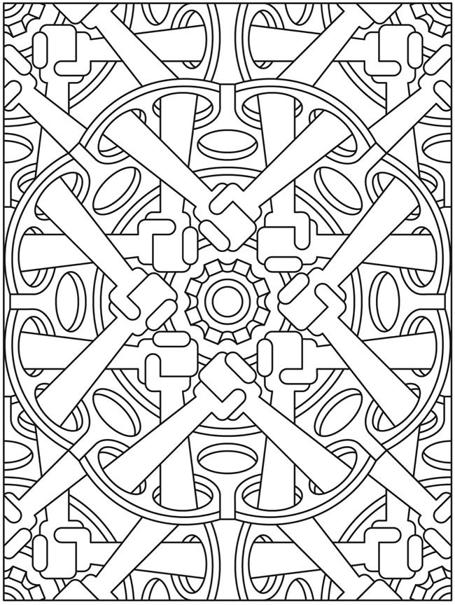Welcome to Dover Publications Mandala Мандала steampunk coloring ...