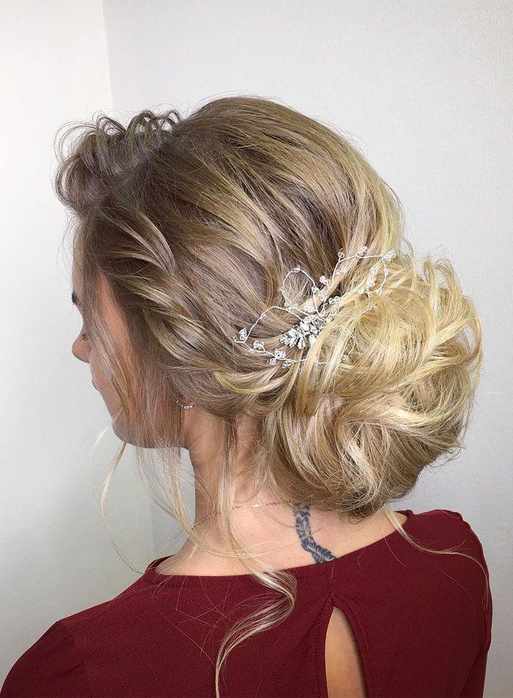 Beautiful updo wedding hairstyle idea - wedding hair ,hairstyle ,updo ,messy updo ,hair updo ideas ,hair ideas ,bridal hair ,french chignon ,messy updo hair ,wedding hairstyles ,hairstyles ,hairs ideas