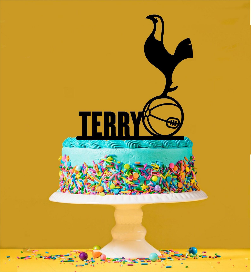 Peachy Personalised Spurs Cake Topper Spurs Cake Cake Toppers Cool Funny Birthday Cards Online Fluifree Goldxyz