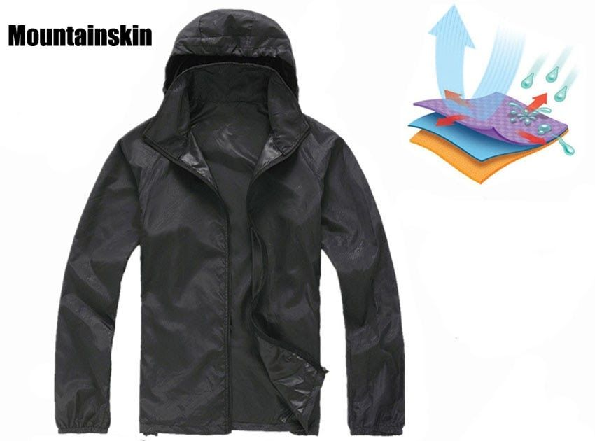108a1a86c1e Free shipping Men Women Quick Dry Hiking Jackets 2018 New Waterproof  Sun-Protective Outdoor Sports