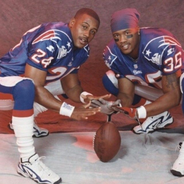 Ty Law and Lawyer Milloy! | Ty law, Jersey patriots, New ...