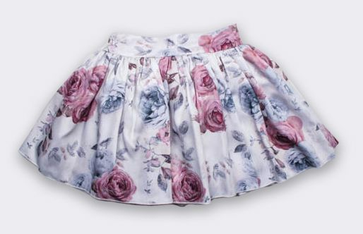 Buy Online baby Swimsuit, Cashmere, Dresses & Kids Clothing :: older girl :: skirts, pants & shorts :: Petticoat Skirt in Gray and Pink Rose