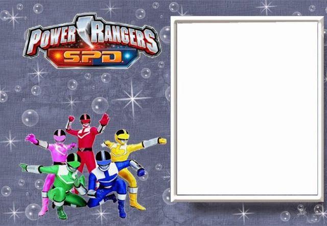 Power Rangers Free Printable Invitations Silas Bday