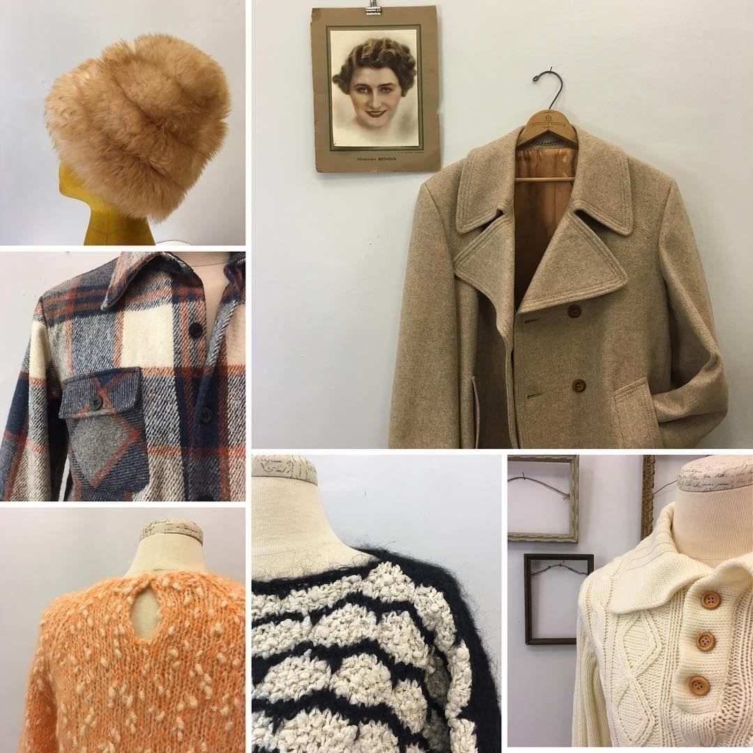 Bundle up with warm layers. All available in our @etsy shop. #telltaledress #etsyshop #vintagefashionfinds #vintagefashionforwomenandmen
