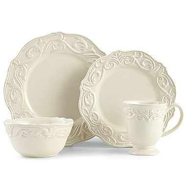 Chris Madden® Corvella 16-pc. Dinnerware Set - jcpenney  sc 1 st  Pinterest & Chris Madden® Corvella 16-pc. Dinnerware Set - jcpenney | For the ...