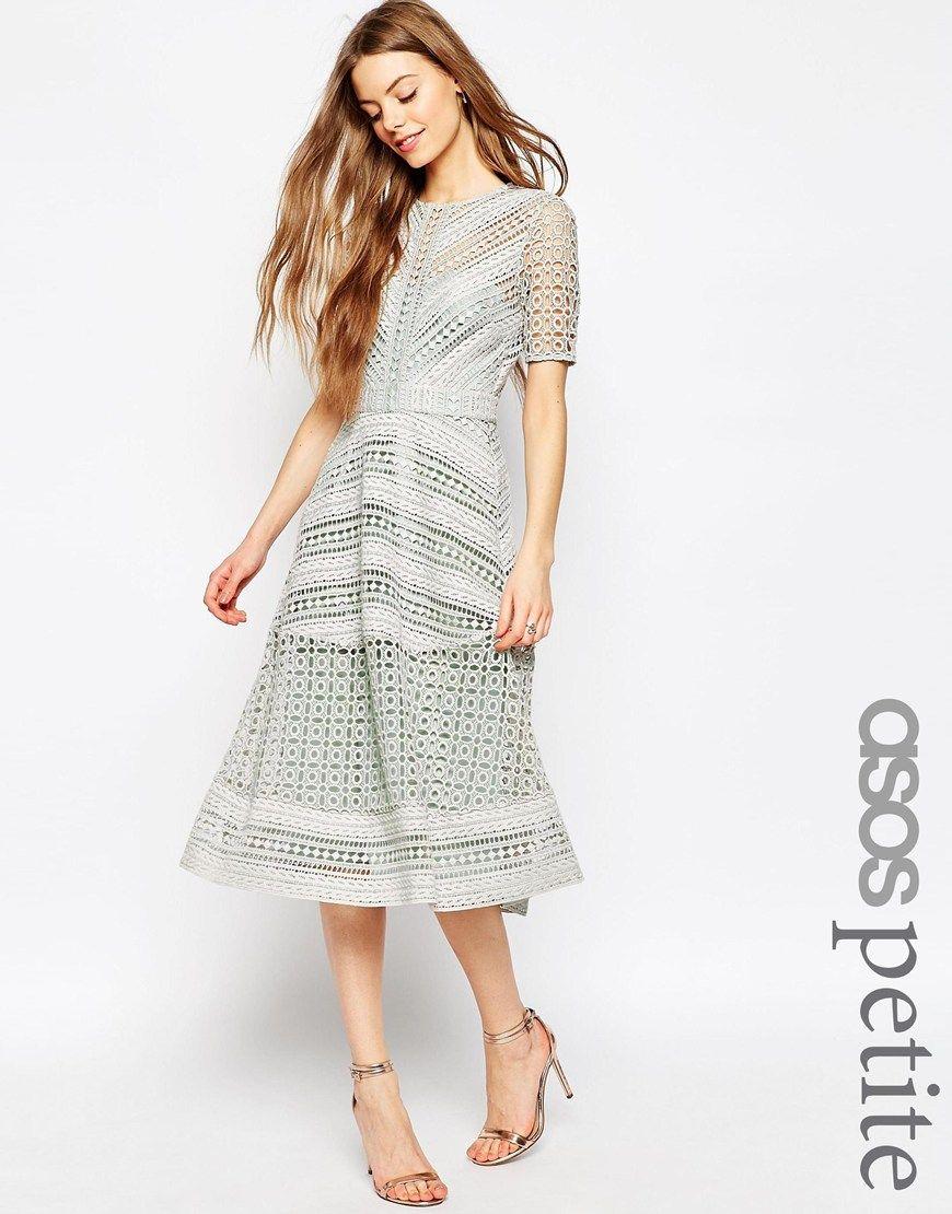 Bild 1 von ASOS PETITE – Premium Occasion – Minikleid mit Spitze ...