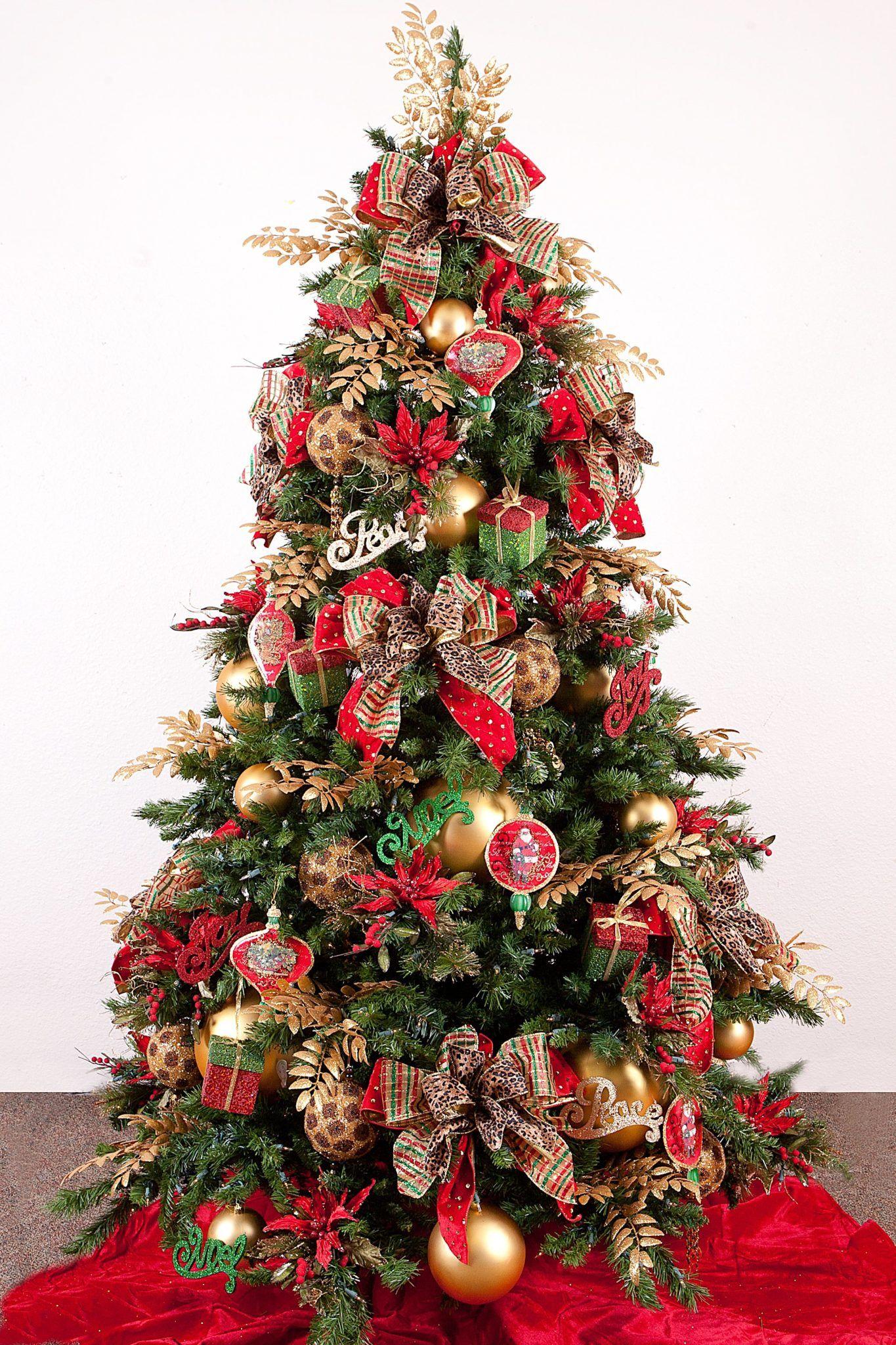 Arvores De Natal Arvore De Natal Vermelha Decoracao De Arvore