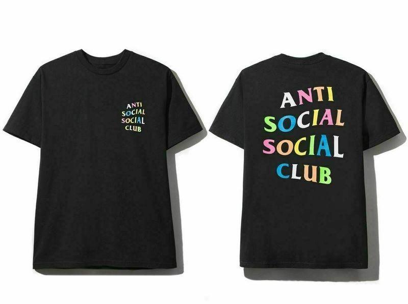 Anti Social Social Club Ss19 Assc Rainbow Logo Tee Shirt Reprint Men A Anti Social Looks Camiseta