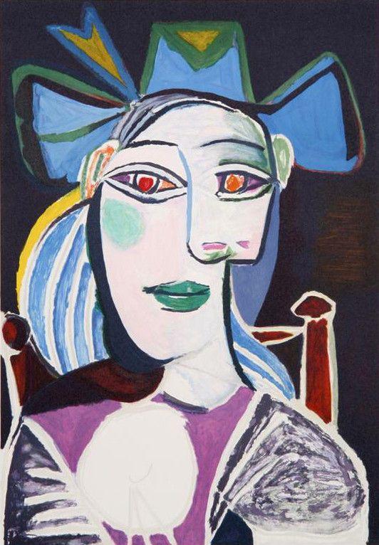 Pablo Picasso, Buste De Femme Au Chapeau Bleu, 1939   Picasso ...