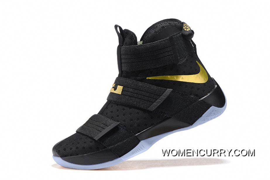 Nike LeBron Soldier 10 Finals ID. Black Gold Online