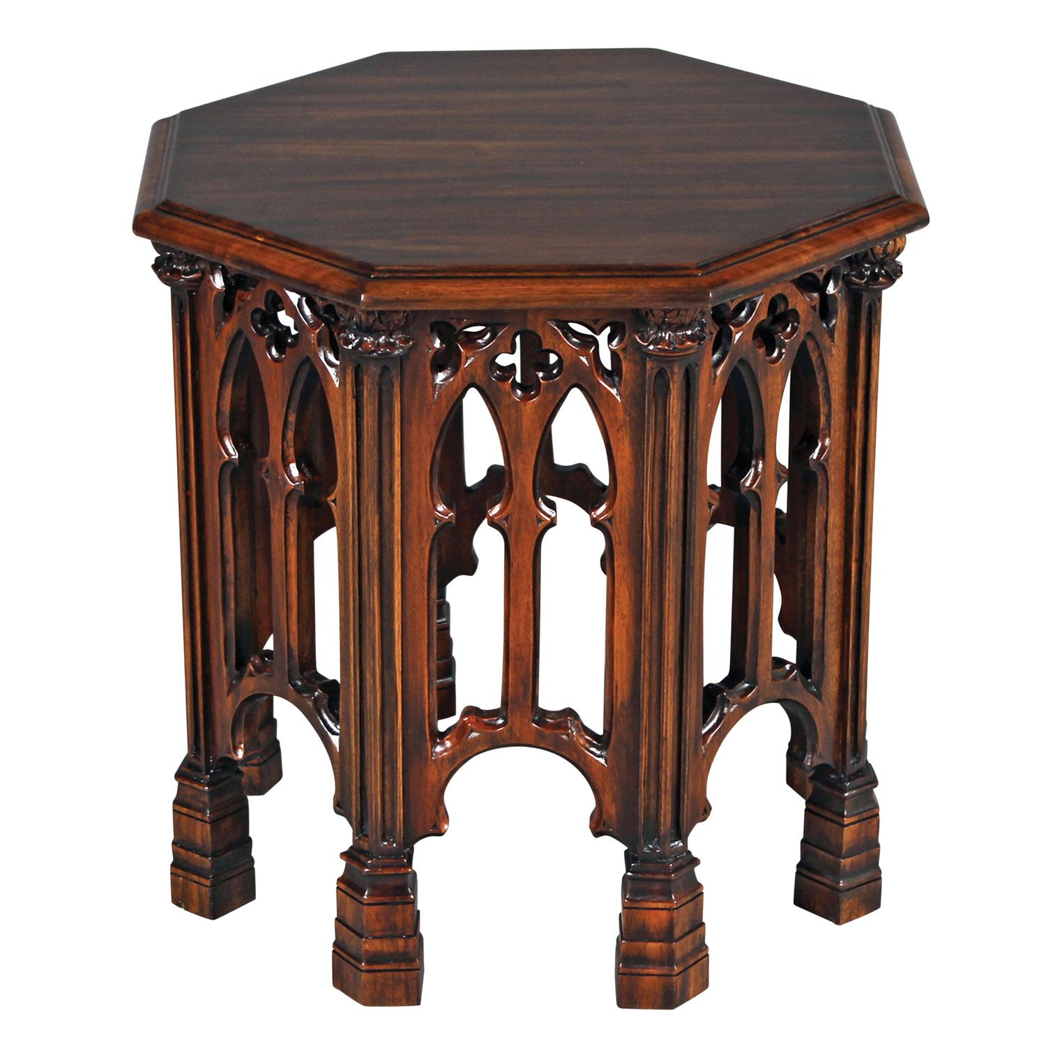 Gothic Revival End Table Wayfair Game Of Thrones Pinterest  # Muebles Goticos