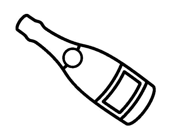 Champagne Bottle Coloring Page Champagne Bottle Coloring Pages