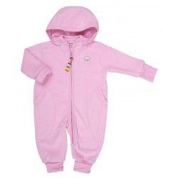 ab2f824fcb4 Joha heldragt i lyserød bomuldsfleece | Joha børnetøj i uld og ...