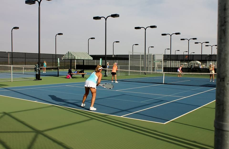 Public Tennis Courts Bush Tennis Center Midland Tx You Ll Know You Re Playing In Texas Oil Country Because The C Tennis Court Public Tennis Courts Tennis