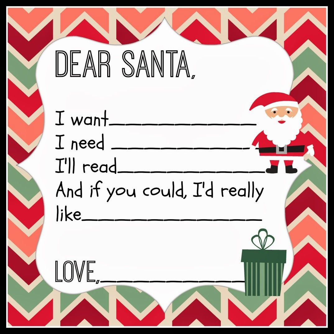 letter to santa Download your printable Letter to Santa