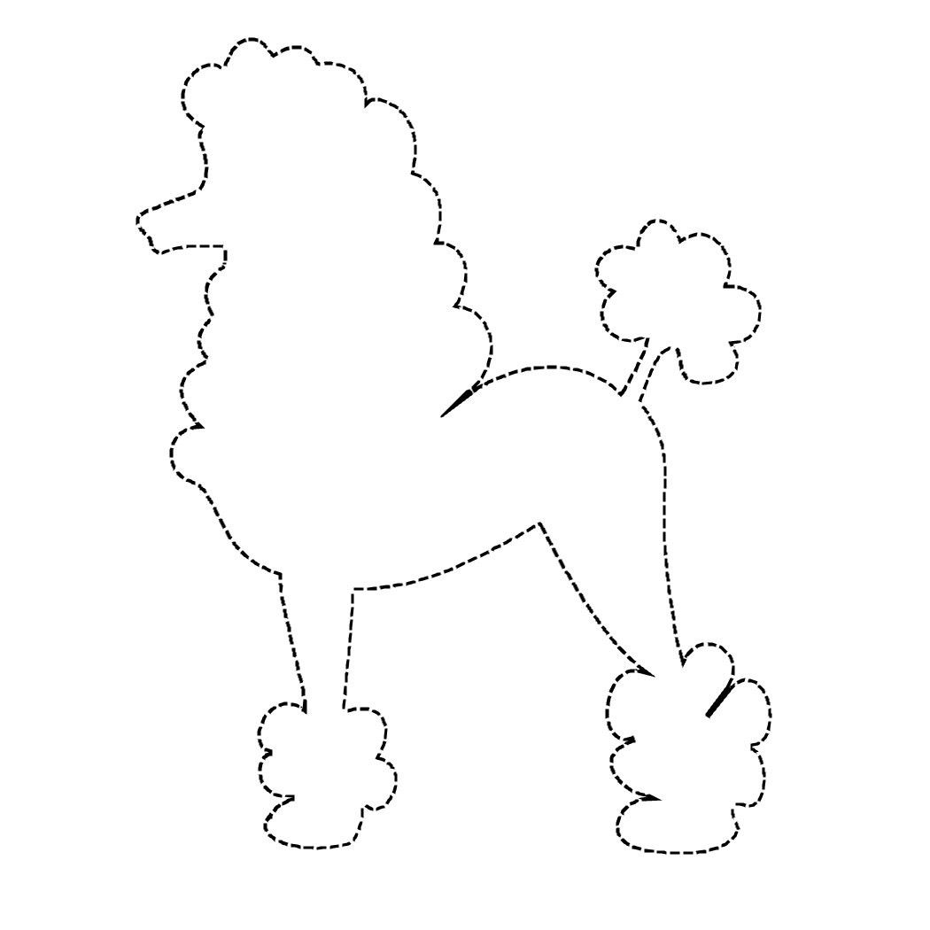 outline of poodle colouring pages | Activities | Pinterest | Pudel ...