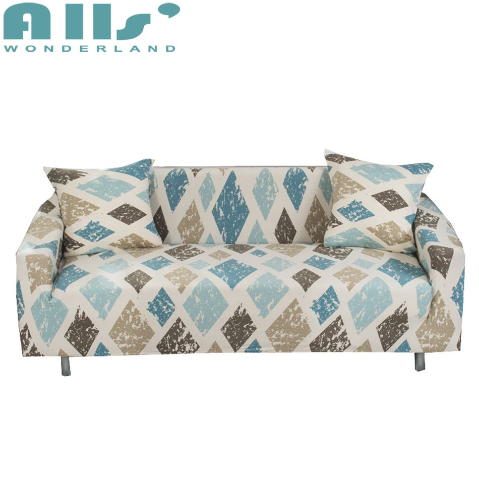 Sofa Covers Elastic Spandex Geometric Pattern Couch Slipcovers Furniture Protector For Living Room Modern Decoration Sliprcover Sofacover Home Dec Sofa Covers