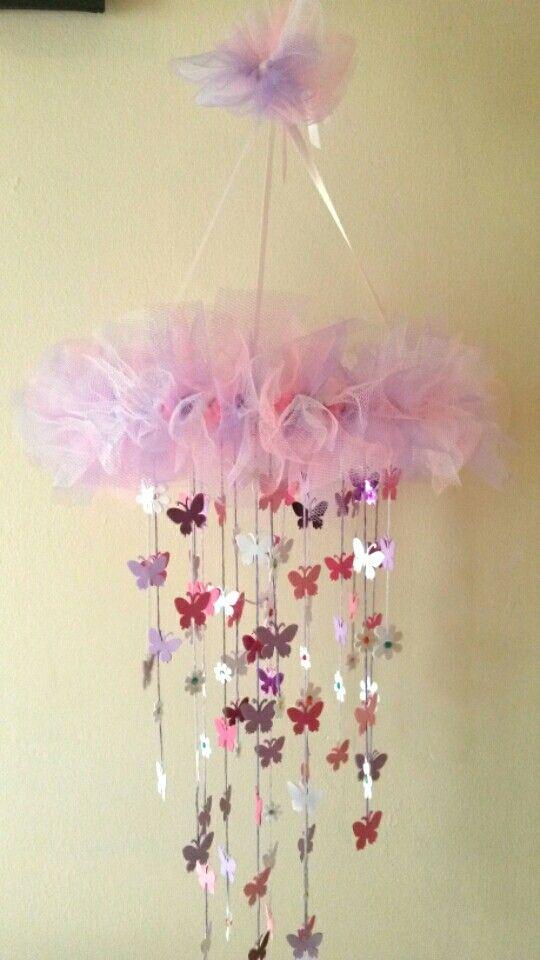 Flowers/butterflies dream catcher baby mobile.