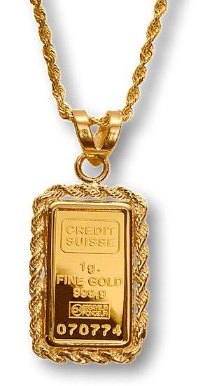 Credit Suisse fine gold ingot 100 g bullion bar 2 Edward Olive