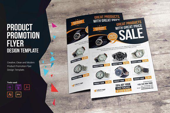 Product Promotion Flyer Design v2 by Miyaji75 on @creativemarket - product flyer