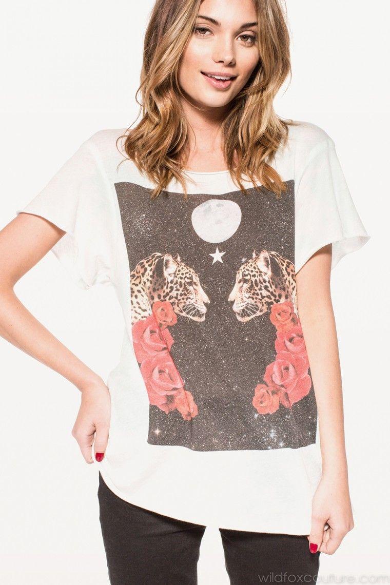 CELESTIAL CATS JAGGED EDGE T #wildfox #wildfoxcoutureuk #kaleidescope #tshirt #women
