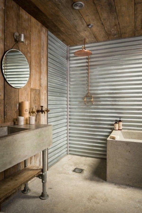 Nuevos revestimientos   10 baños rústicos que merecen un 10
