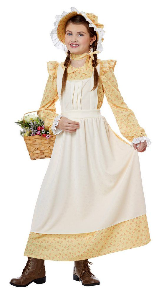f9bbc4a43aa Child s Yellow Prairie Girl Costume - Candy Apple Costumes - Perfect for a  Laura Ingalls Wilder costume
