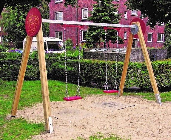 Klettergerüst Aus Metall : Spielplatz schaukel holz und metall din en h cm