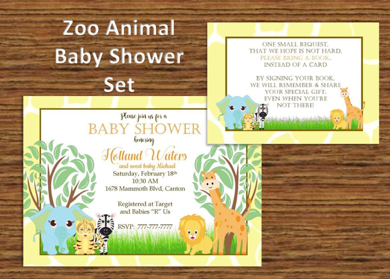 DIY PRINTABLE Baby Shower Invitation Zoo Animals| Baby Shower ...