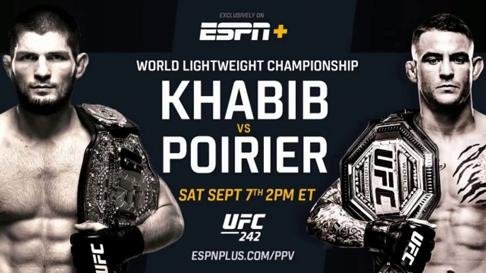 How to watch ufc 242 khabib vs poirier live without cable