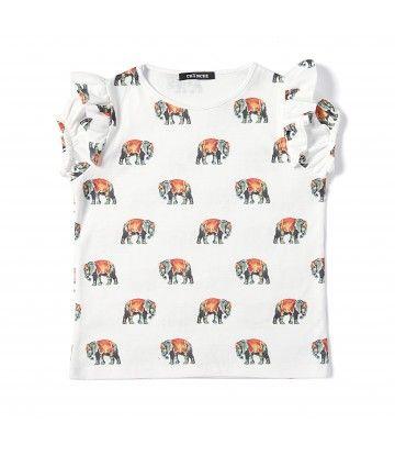 Camiseta Elefantes Circo Chinche Ropa Para Ninas Camisetas Elefantes