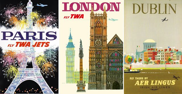 Love these vintage travel posters