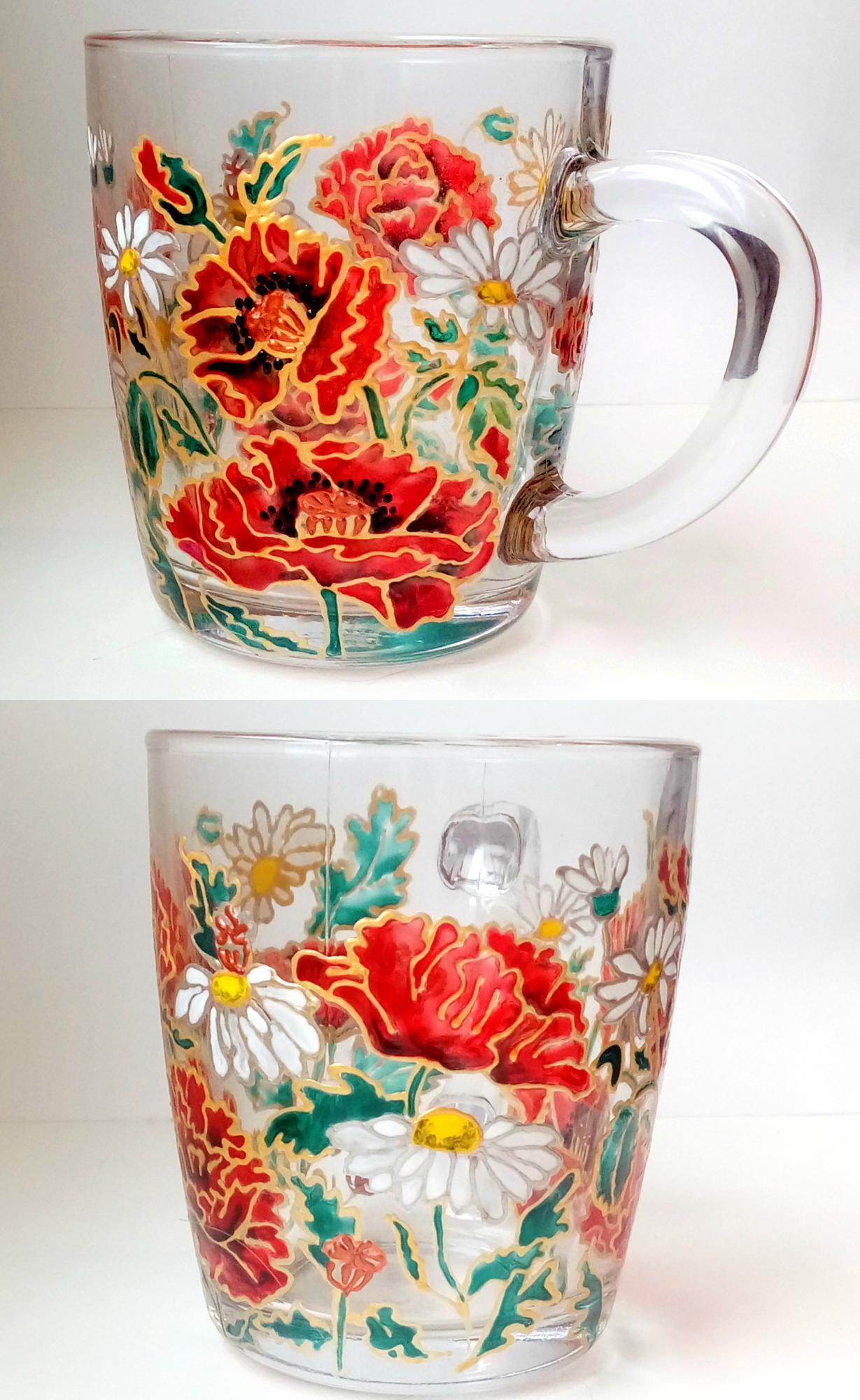 Stained glass coffee mug, personalized custom mug, gift