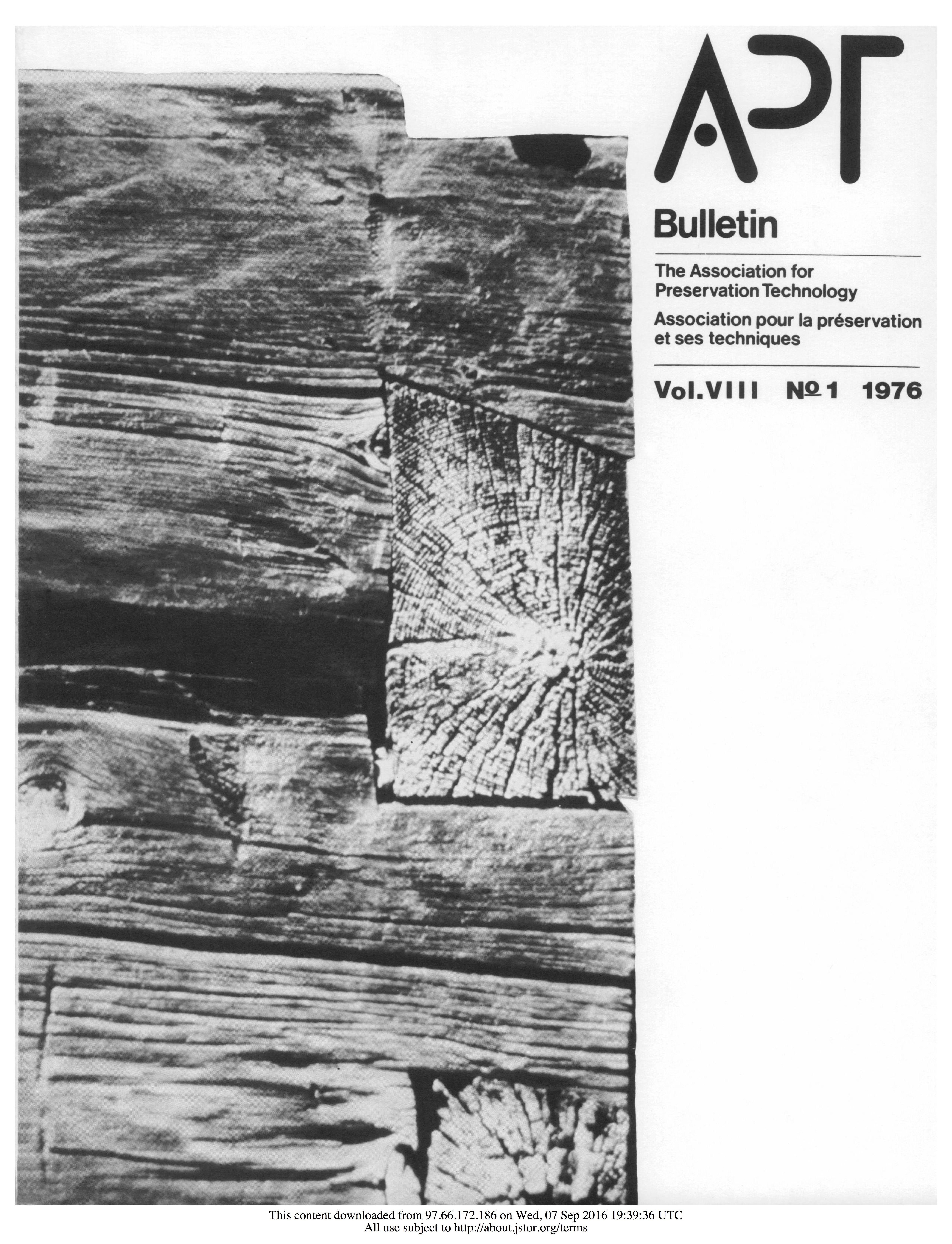 APT Bulletin Vol. 8, No. 1, 1976